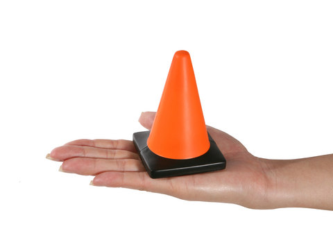cone in hand